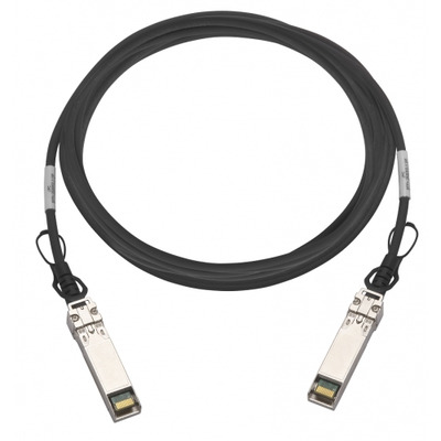 QNAP CAB-DAC30M-SFPP-DEC02 Kabel - Zwart, Metallic