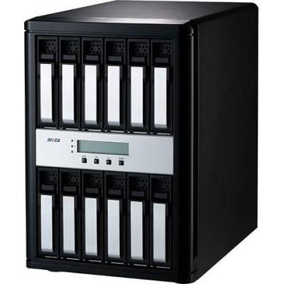Areca Desktop 12-Bay, 12 x 12Gb/s SAS, 2GB DDR3 1866MHz, Thunderbolt 3 x2, Display Port x1, 206 x 310 x 290mm, .....