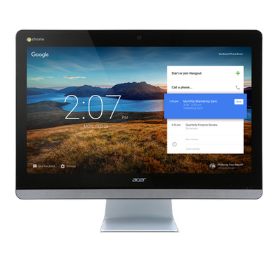 Acer all-in-one pc: Chromebase CA24V - Zwart, Zilver