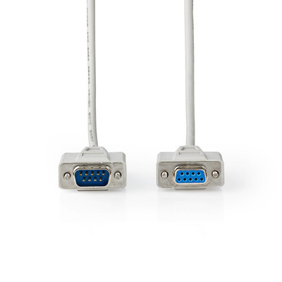 Nedis Seriële Kabel, D-Sub 9-Pins Male - D-Sub 9-Pins Female, 3,0 m, Ivoor