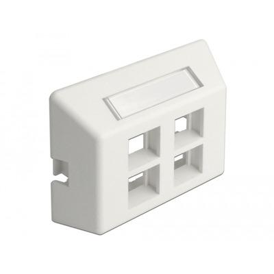 DeLOCK Keystone Outlet 4 Port for furniture installation - Wit