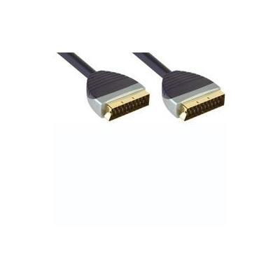 Bandridge : BE PRE Scart Audio/Video Cable, Scart Male - Scart Male, 1.0m - Zwart, Grijs