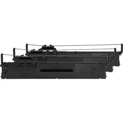 Epson Ribbon Cartridge zwart Per 3 stuks verpakt S015339 Printerlint