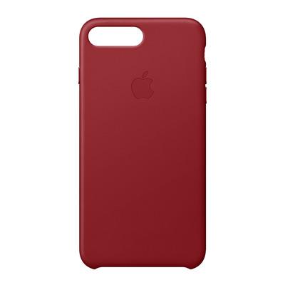 Apple mobile phone case: Leren hoesje voor iPhone 8 Plus/7 Plus - (PRODUCT)RED - Rood
