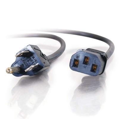 C2g electriciteitssnoer: 1.8m, NEMA 5-15 - C13 IEC - Zwart