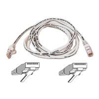 Belkin High Performance - Patch cable 5m UTP ( CAT 6 ) - white Netwerkkabel