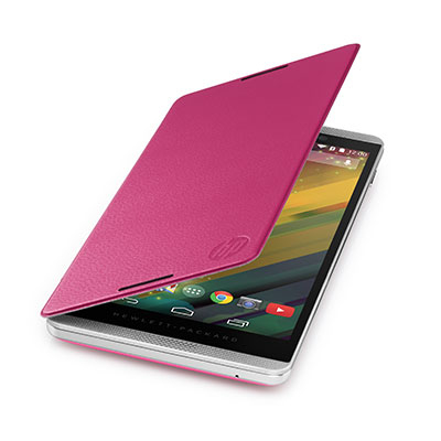 Hp tablet case: Slate 6 VoiceTab Pink Flip Cover - Roze