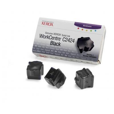 Xerox inkt stick: Originele WorkCentre C2424 Solid Ink zwart (3 blokjes)