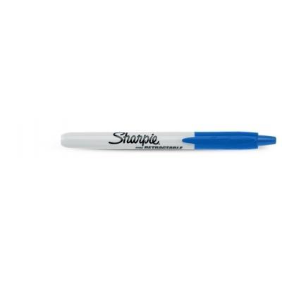 Sharpie marker: Retractable Fine Point - Blauw