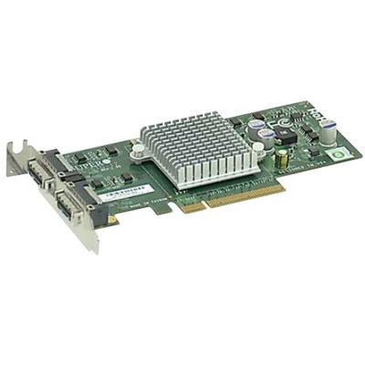Supermicro Standard PCI-E 2-port 10-Gigabit Ethernet Networking Card Netwerkkaart - Zilver
