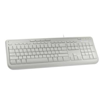Microsoft toetsenbord: Wired Keyboard 600, White - Wit