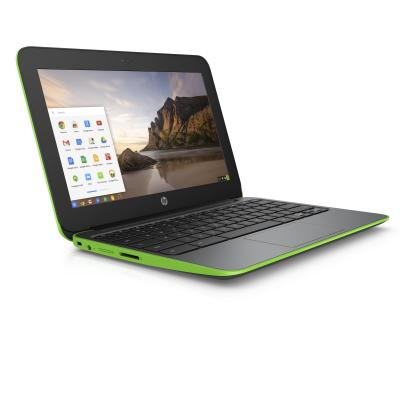 Hp laptop: Chromebook 11 G4 - Zwart