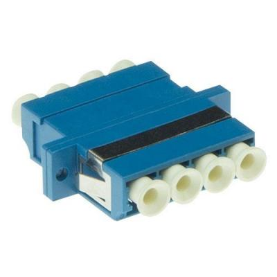 Advanced cable technology fiber optic adapter: Fiber optic LC-LC quad adapter singlemode OS2 - Blauw