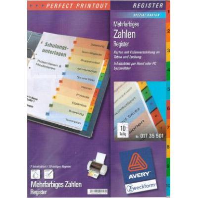 Avery IndexMaker Laser-Copier 1-10 Indextab