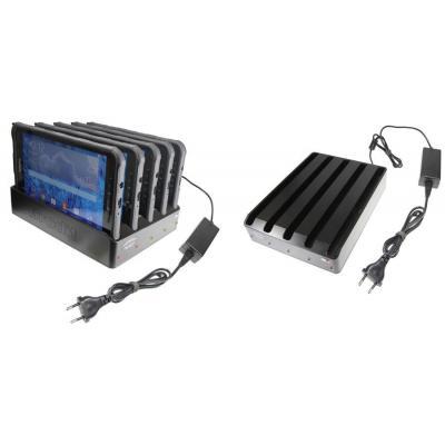 Brodit Table Stand 5 way desktop charging dock Oplader - Zwart