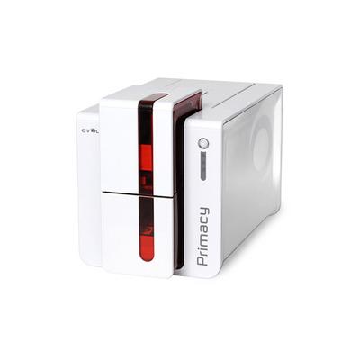 Evolis plastic kaart printer: Primacy - Rood, Wit