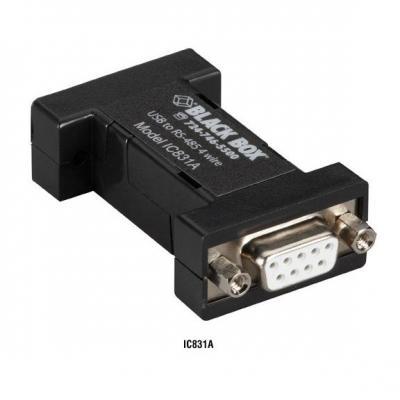 Black Box DB9 Mini Converter (USB to Serial), USB/RS-485 (4-wire, DB9) Seriele converter/repeator/isolator - .....