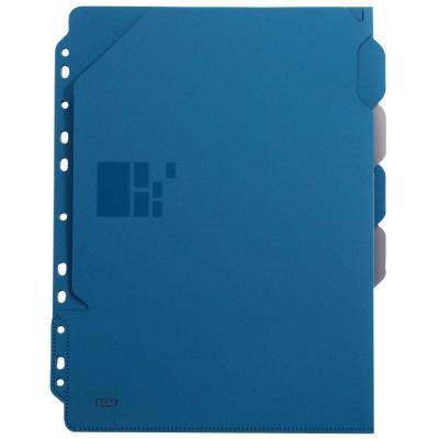 Elba schutkaart: A4, PP, blue/grey - Blauw, Grijs
