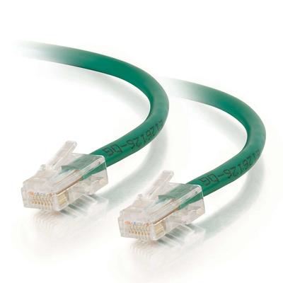 C2G 0,5 m Cat5e Non-Booted Unshielded (UTP) netwerkpatchkabel - groen Netwerkkabel