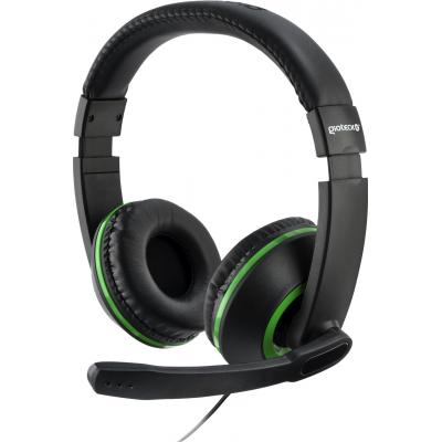 Gioteck game assecoire: Gioteck, XH-100 Wired Stereo Headset (Black / Green)  Xbox One