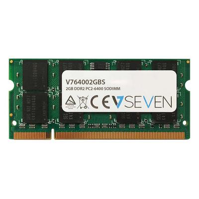 V7 2GB DDR2 PC2-6400 - 800Mhz, SO DIMM RAM-geheugen - Groen
