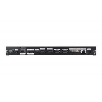 Samsung ontvanger: Cortex-A12, 1GHz, Quad Corem 8 GB storage, 2.5 GB DDR3, DisplayPort, DVI-I, RJ-45, RS-232, HDMI, .....