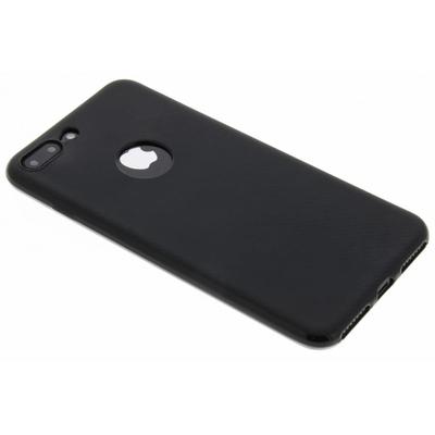CP-CASES Carbon Softcase Backcover iPhone 8 Plus / 7 Plus - Zwart / Black Accessoire