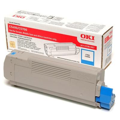 OKI cartridge: Tonercartridge voor C5600/C5700, Cyaan