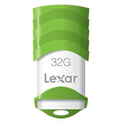 Lexar USB flash drive: 32GB JumpDrive V30 - Groen, Wit