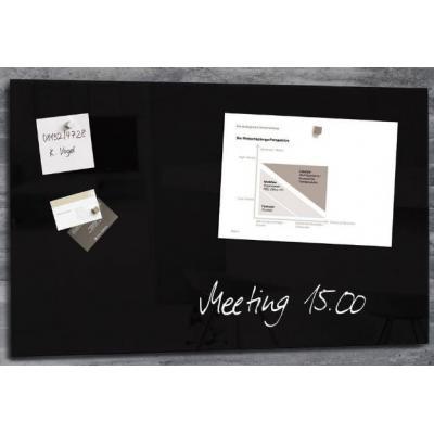 Sigel magnetisch bord: GLASBORD SIG 780X480X15MM ZW  - Zwart