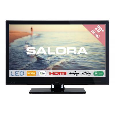"""Salora : 5000 series Een 20"""" (51CM) CI+ LED TV met 100Hz BPR en USB mediaspeler - Zwart"""