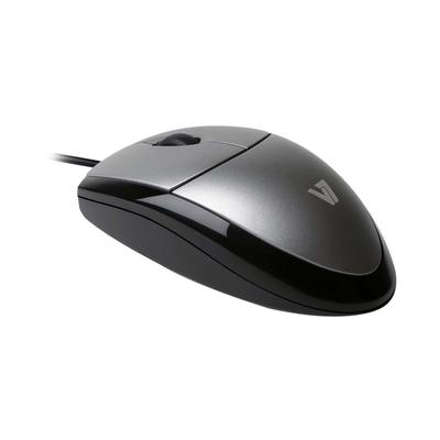 V7 Optical LED USB Mouse Muis - Zwart,Zilver