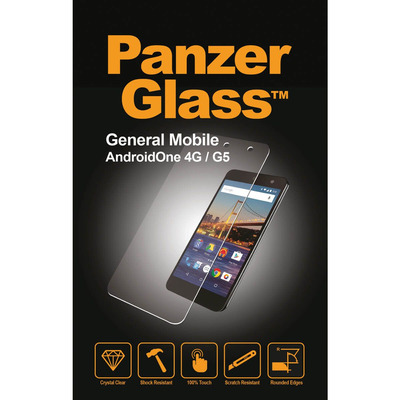 PanzerGlass General Mobile AndroidOne 4G/G5 Edge-to-Edge Screen protector - Transparant