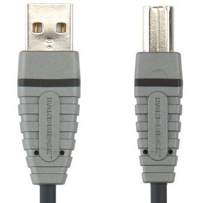 Bandridge BCL4101 USB kabel - Grijs