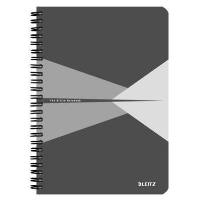 Leitz schrijfblok: Office A5 ruled, 90p, 164 x 12 x 210 mm, 280 g - Grijs, Wit