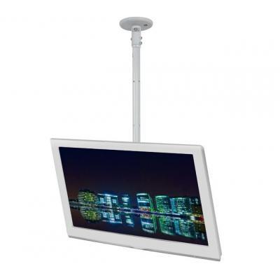 B-tech flat panel plafond steun: Medium Drop Flat Screen Ceiling Mount with Tilt - White