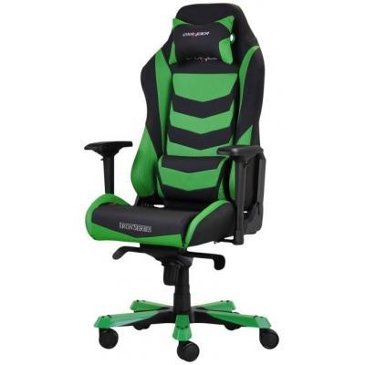 Dxracer : 4D, PU leather, black/green, 165-185cm, 30kg