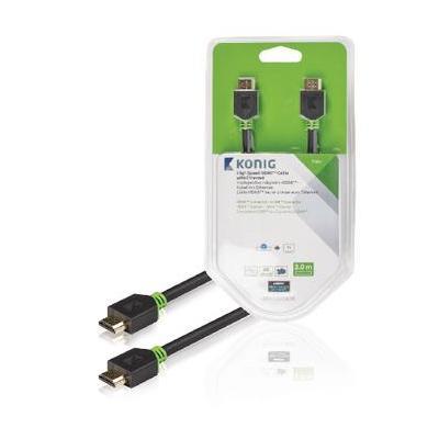 König HDMI kabel: KNV34000E30 - Antraciet