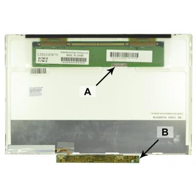 2-power notebook reserve-onderdeel: 12.1 WXGA 1280x800 LED Matte Screen