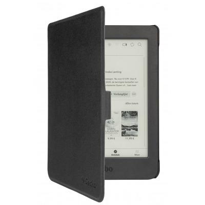 """Gecko 6"""", Kobo Nia, Fabric/Velours/PC, Zwart E-book reader case"""
