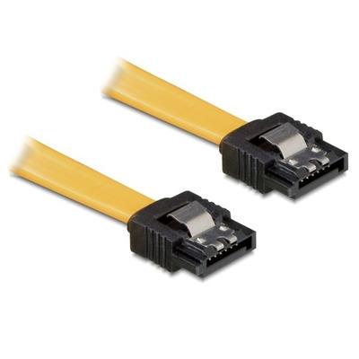 Delock ATA kabel: SATA Cable 0.1m - Geel