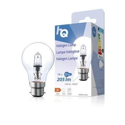 Hq halogeenlamp: Halogen lamp classic GLS B22 18W 205lm 2800K