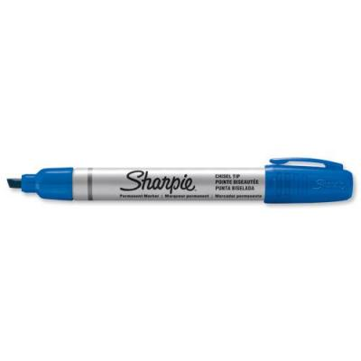 Sharpie marker: S0945780, blue, 4 mm, metal, 12x - Blauw, Metallic