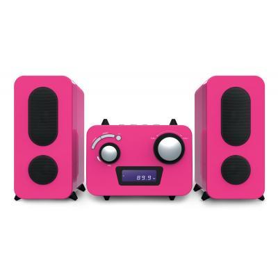 Bigben interactive home stereo set: Microset met radio en CD speler +500 stickers - roze