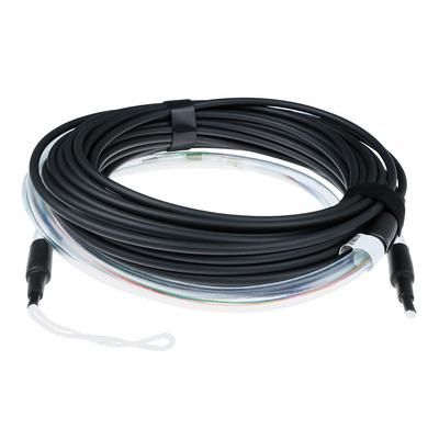ACT 10 meter Multimode 50/125 OM3 indoor/outdoor kabel 4 voudig met LC connectoren Fiber optic kabel