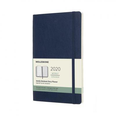 Moleskine 12M, 13x21cm, 70g/m², 144p, Blue Agenda - Blauw