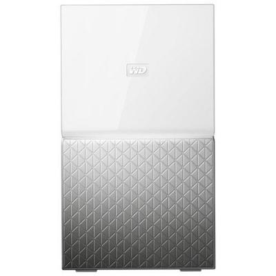 Western digital : MY CLOUD HOME Duo 6 TB - Zilver, Wit