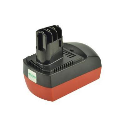 2-power batterij: Power Tool Battery, 14.4V, 3000mAh - Zwart, Rood