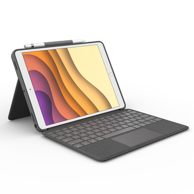 Logitech Combo Touch - QWERTY Mobile device keyboard - Grijs
