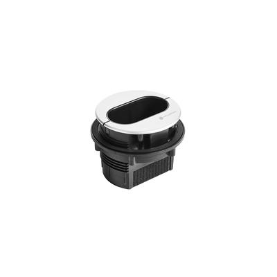 Atlona Pocket 3H Kabelgootaccessoire - Zwart, Zilver
